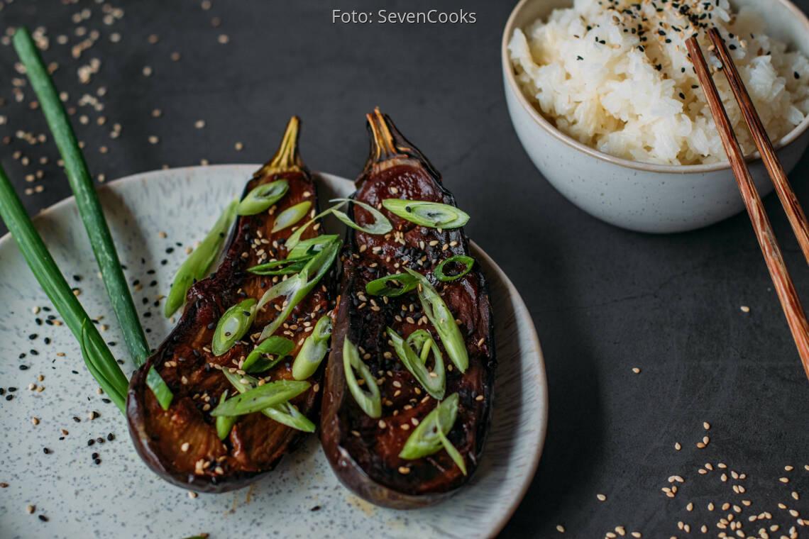 Veganes Rezept: Miso Auberginen 1
