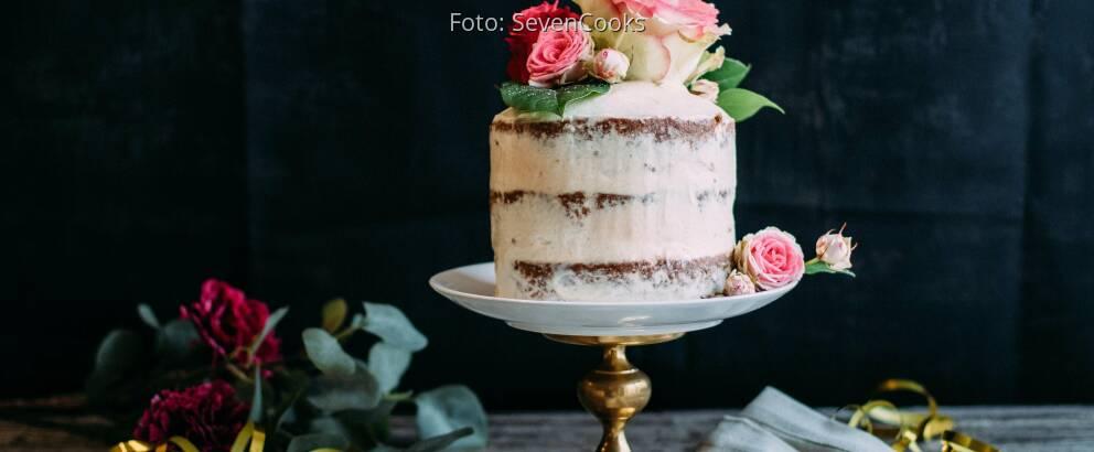 Veganes Rezept: Naked Cake