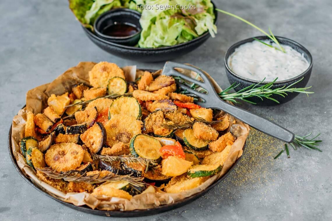 Veganes Rezept: Ofengemüse mit Polentakruste 1