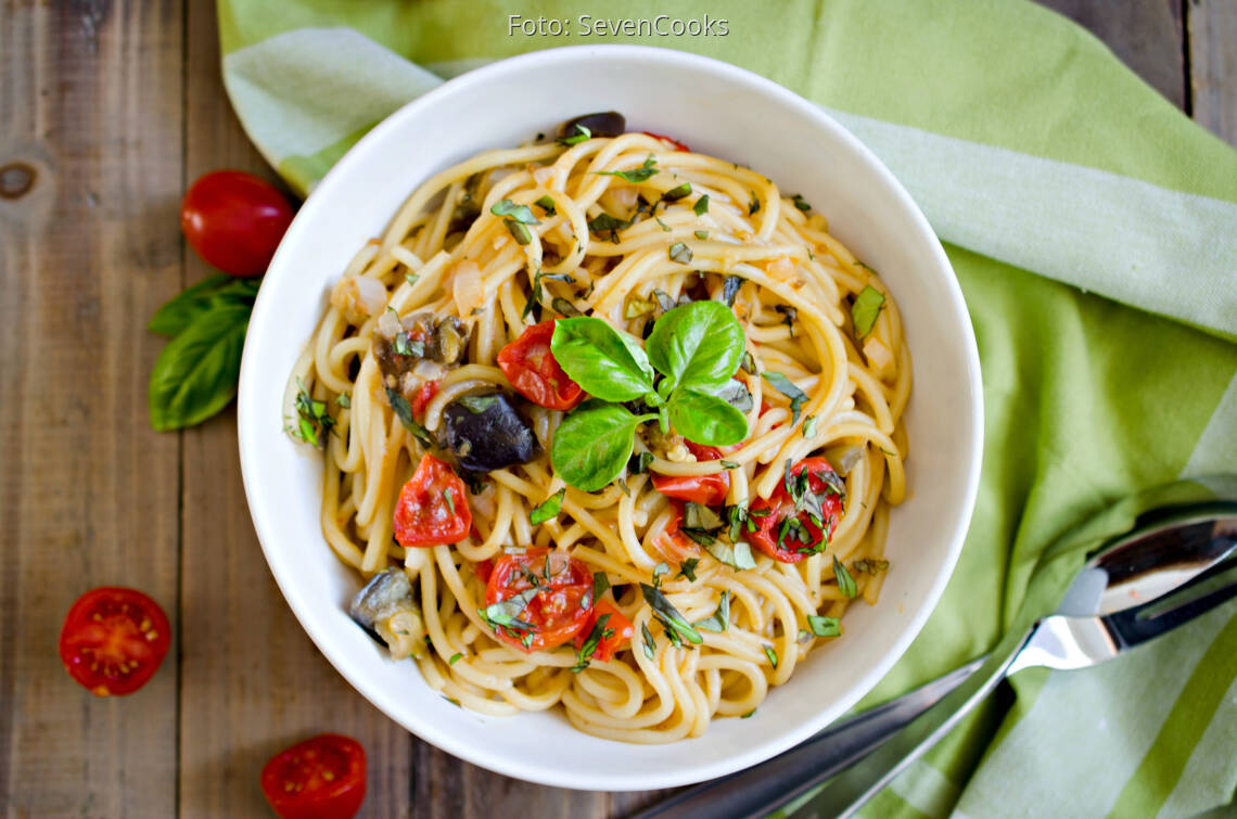 Fertiges Rezept: One Pot Pasta mit Aubergine_1