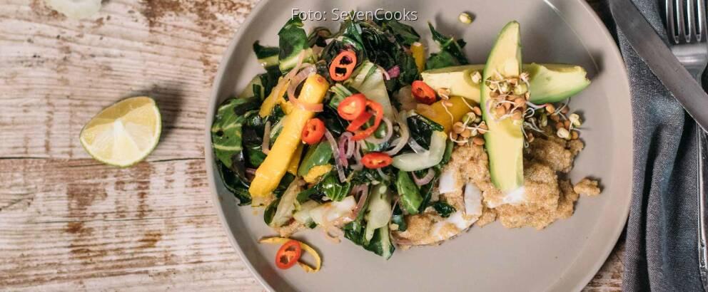 Veganes Rezept: Pak Choi im Wok mit Kokos-Amaranth 2