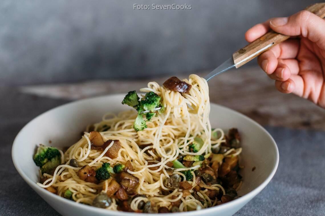 Veganes Rezept: Pasta mit gehackten Maronen 1
