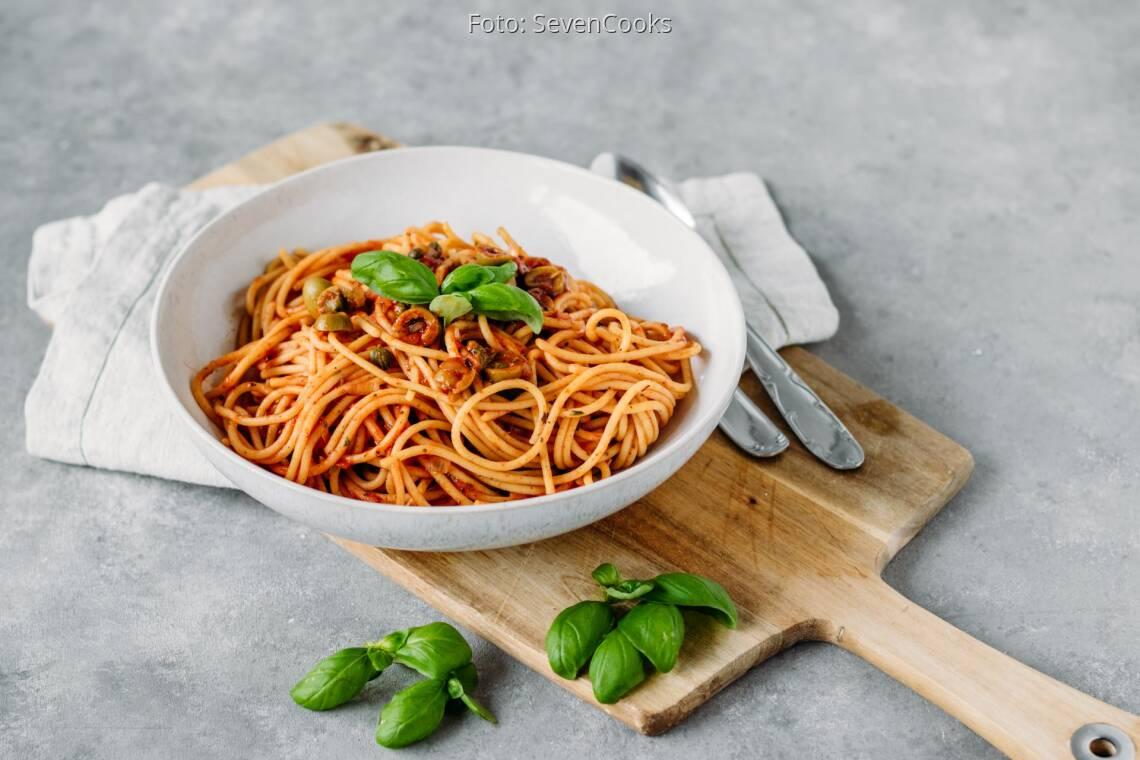 Veganes Rezept: Pasta mit Oliven und Kapern 1