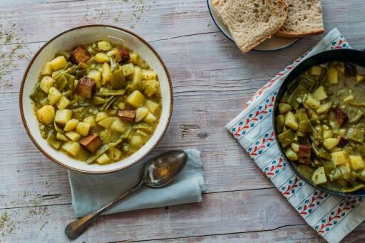 Veganes Rezept: Pfälzer Kartoffel-Bohnen-Eintopf 1