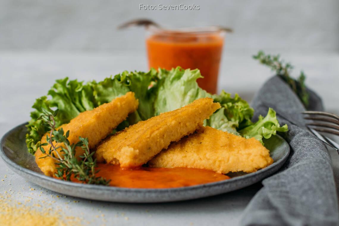 Veganes Rezept: Polenta-Schnitten mit frischer Tomatensauce 1