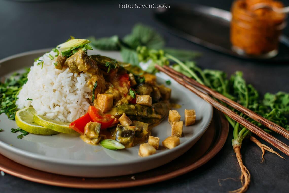 Veganes Rezept: Red Thai Curry 1