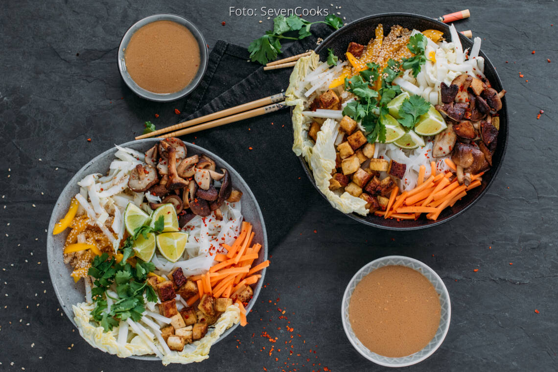 Veganes Rezept: Reisnudel-Bowl 1