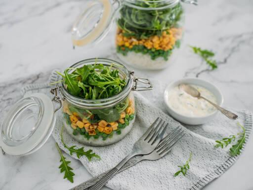 Veganes Rezept: Reissalat im Glas 1