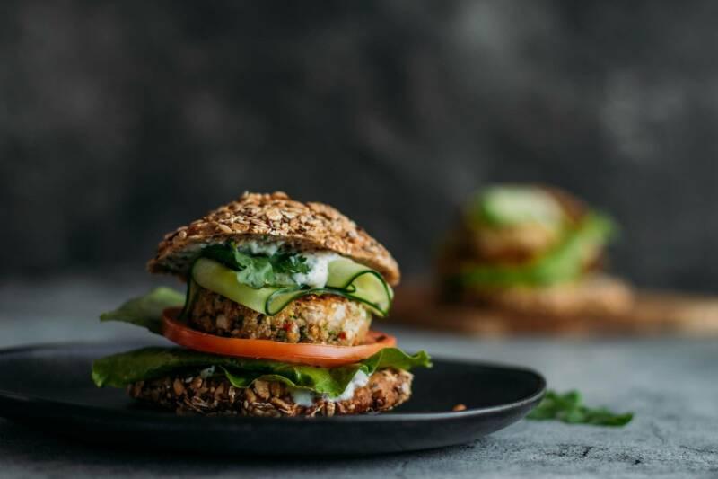 veganes Rezept rettich Burger