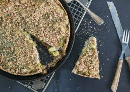 Veganes Rezept: Rosenkohl-Quiche