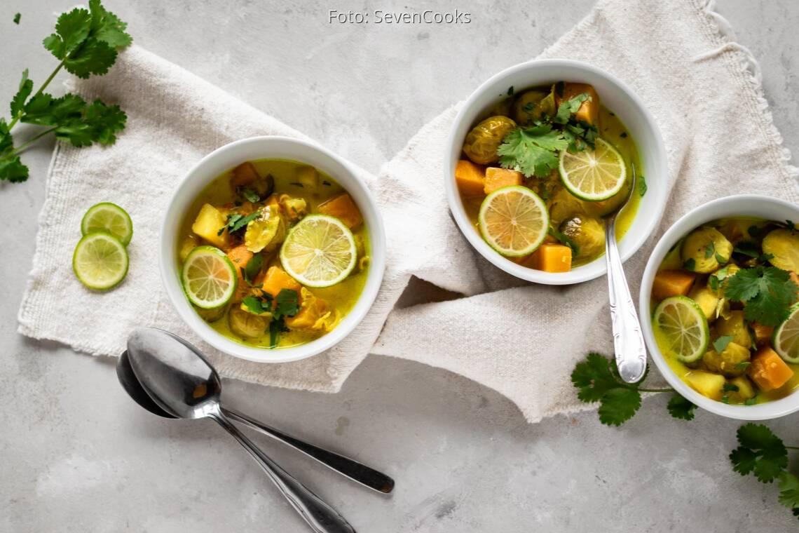 veganes Rezept: Rosenkohl-Steckrüben-Eintopf 1