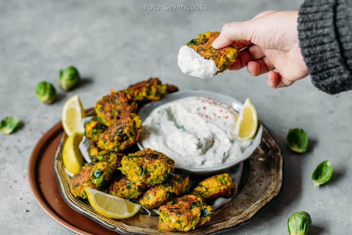 Veganes Rezept: Rosenkohlbratlinge nach indischer Art 1