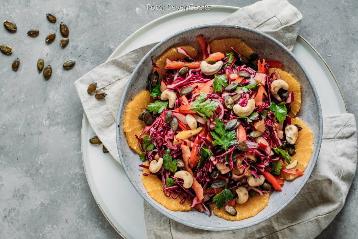 Veganes Rezept: Rotkohlsalat 1