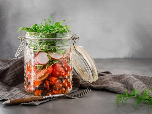 Veganes Rezept: Salat im Glas 1