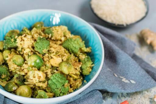 Veganes Rezept: Schnelle asiatische Reispfanne 1