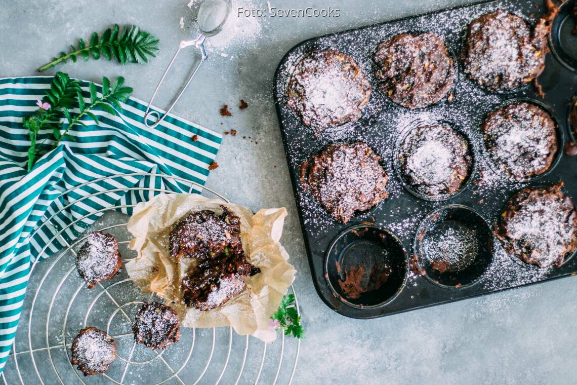 Veganes Rezept: Schokoladige Zucchini-Muffins