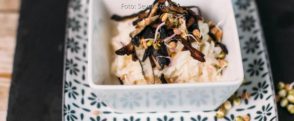 Veganes Rezept: Schwarzrettichsalat mit Joghurtdressing 2