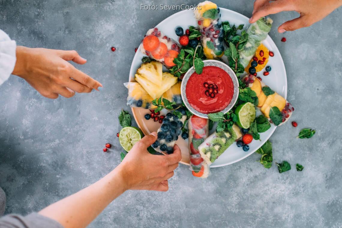 Veganes Rezept: Süße Summerrolls