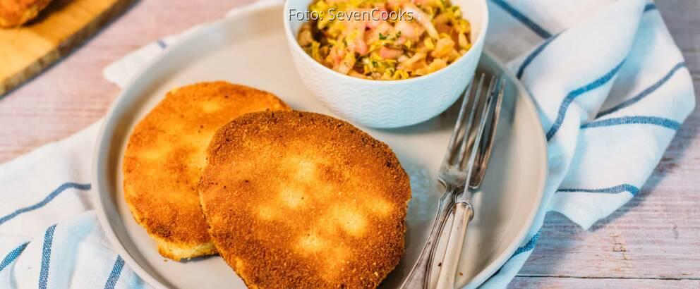 Veganes Rezept: Sellerieschnitzel mit Rhabarbersalat 2