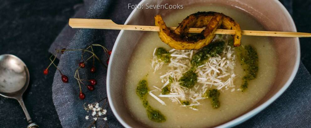 Veganes Rezept: Selleriesuppe mit Tempeh-Sticks 3