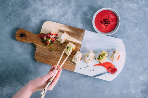 Veganes Rezept: Süßes Sushi
