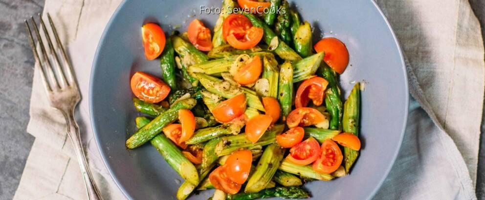 Veganes Rezept: Spargel-Tomaten-Salat 1