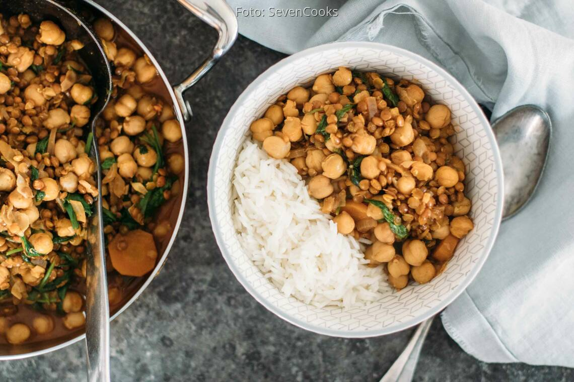Fertiges Rezept: Spinat Dal mit Kichererbsen 1