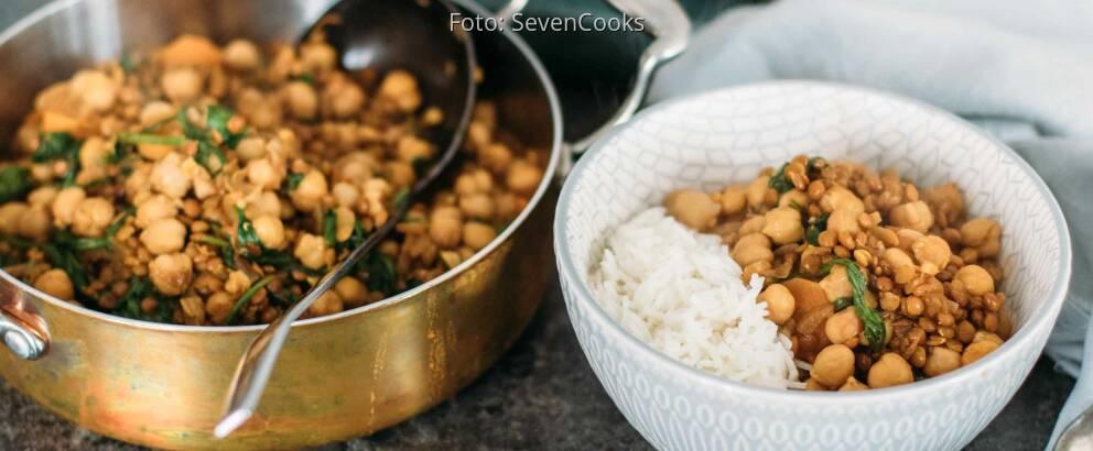 Fertiges Rezept: Spinat Dal mit Kichererbsen 2