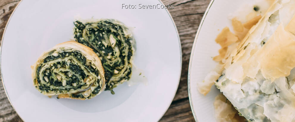 Veganes Rezept: Spinat-Nuss-Strudel