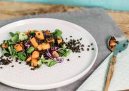 Veganes Rezept: Süßkartoffel-Linsen-Salat_1