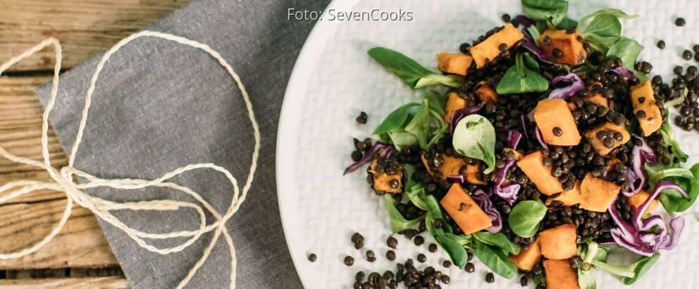 Veganes Rezept: Süßkartoffel-Linsen-Salat_2