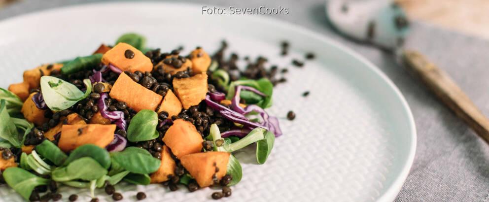 Veganes Rezept: Süßkartoffel-Linsen-Salat_3
