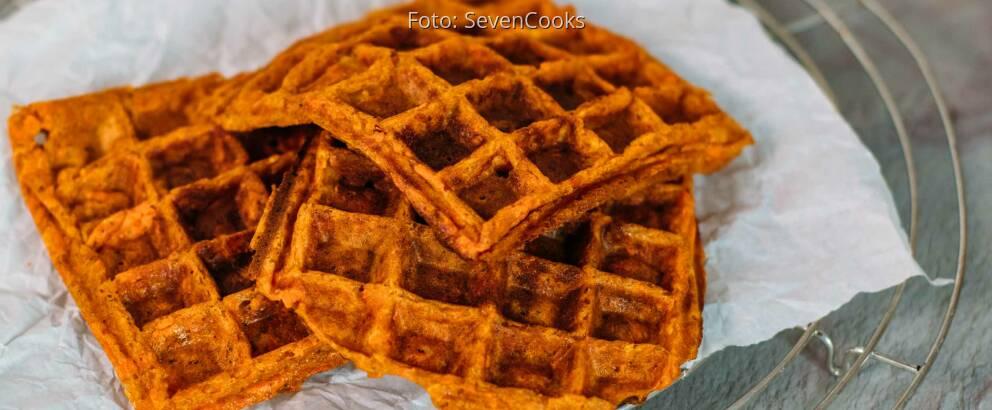 Veganes Rezept: Süßkartoffel-Waffeln mit Ratatouille 3
