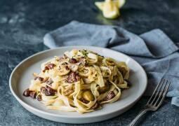 Veganes Rezept: Tagliatelle mit Zitronen und Oliven 1