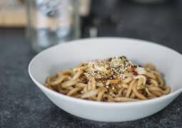 Veganes Rezept: Udon-Nudeln mit Kimchi