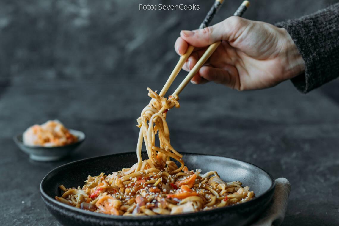 Veganes Rezept: Udonnudeln mit Kimchi