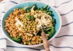 Veganes Rezept: Urkorn Bowl mit Fenchel und Apfel 1