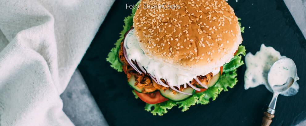 Veganes Rezept: Vegan Pulled Pork Burger_2