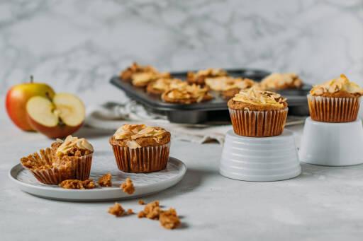 Veganes Rezept: Vegane Apfelmuffins ohne Zucker 1