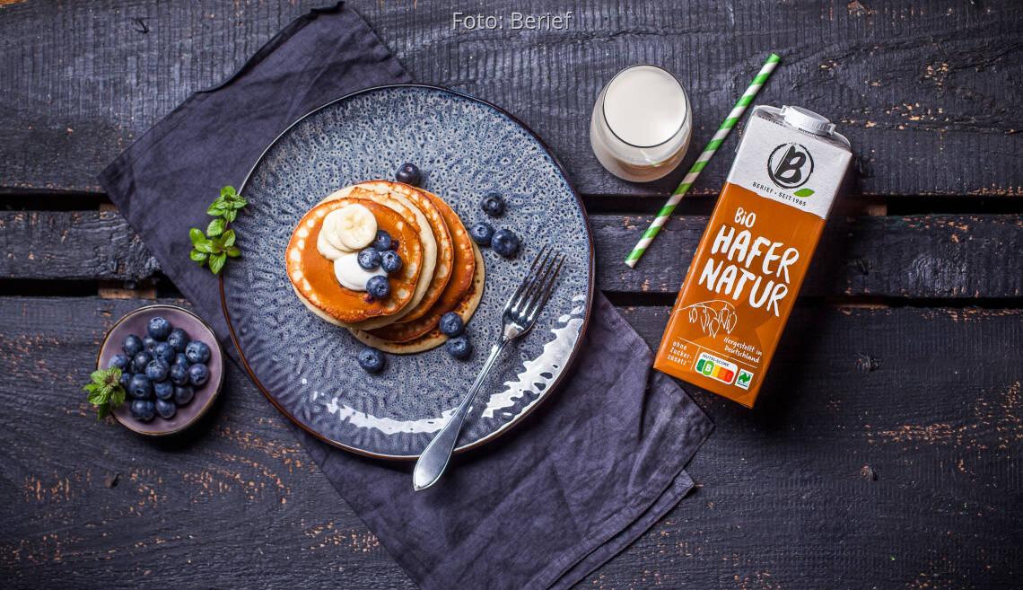 Veganes Rezept: Vegane Blaubeer-Pancakes von Berief