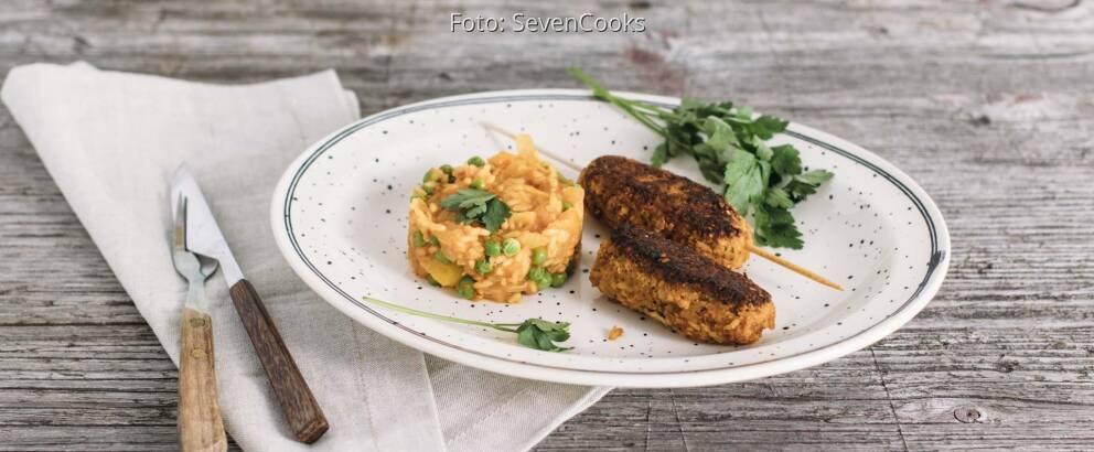 Veganes Rezept: Vegane Cevapcici mit Djuvec-Reis 3