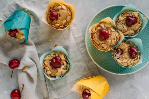 Veganes Rezept: Vegane Kirschmuffins ohne Zucker 1