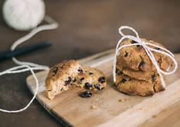 Veganes Rezept: Vegane Schokokekse mit Cranberries und Walnüssen