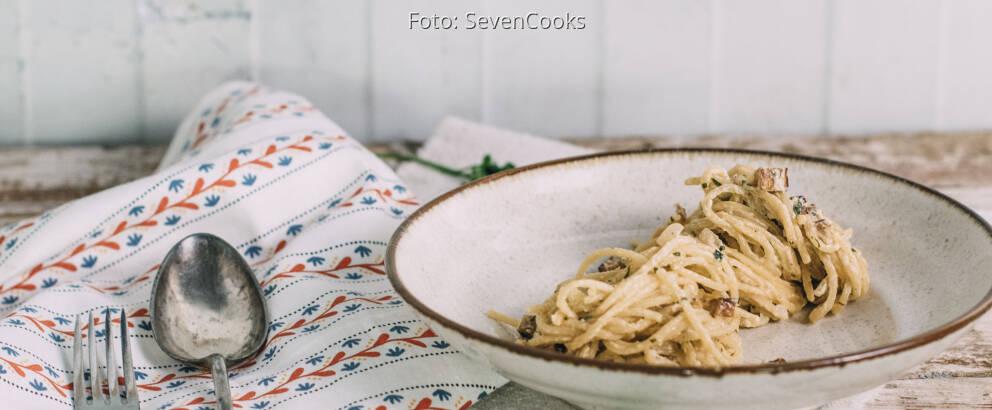 Veganes Rezept: Vegane Spaghetti Carbonara 2