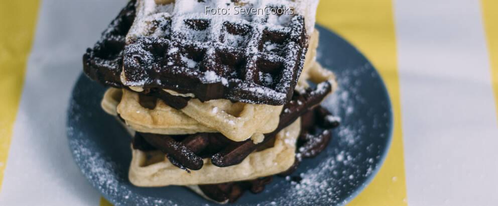 Veganes Rezept: Vegane Vanille-Schokolade-Waffeln