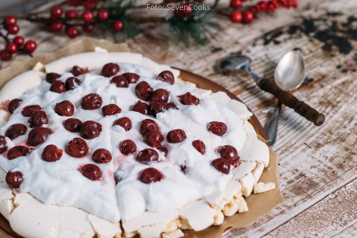 Veganes Rezept: Vegane Weihnachts-Pavlova