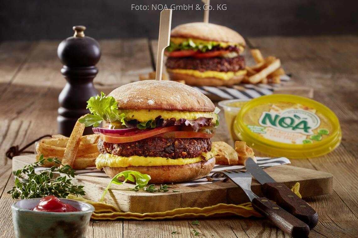 Veganes Rezept: Veganer Black Bean Burger von NOA
