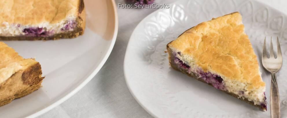 Veganes Rezept: Veganer Blueberry-Cheesecake