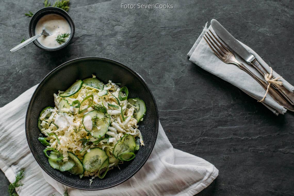 Veganes Rezept: veganer Chinakohlsalat 1