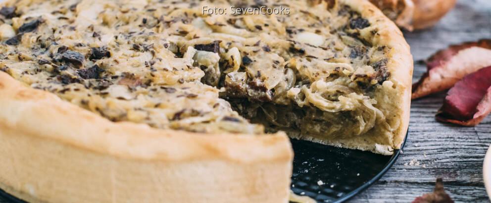 Veganes Rezept: Veganer Zwiebelkuchen